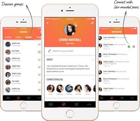 design network application balltalk social network app for sports fans developed by