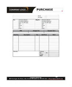 purchase order form template 28 sle purchase order form template editable