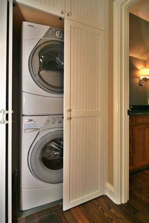 doors to hide washer and dryer simple functional and amazing laundry room ideas stacked