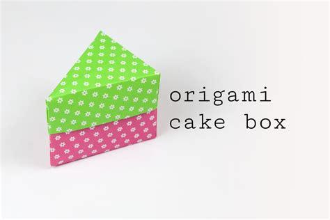 Cake Origami - origami cake box tutorial