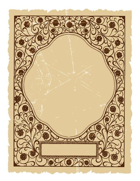 vintage templates for word vintage book covers printable vintage book cover