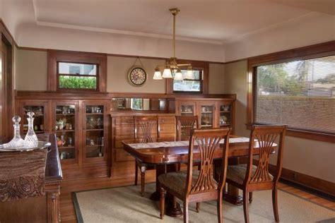 neutral craftsman dining room  built  cabinets hgtv