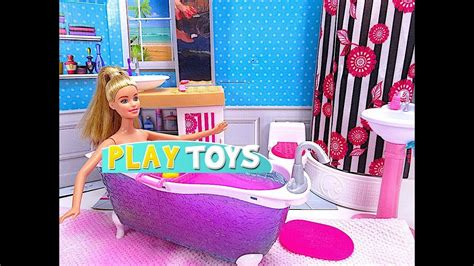 barbie bathtub barbie bathroom youtube