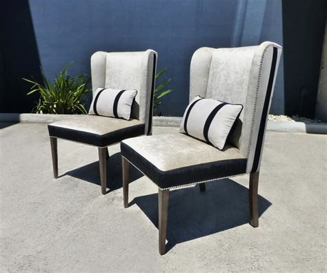 wingback dining chairs black and white timeless
