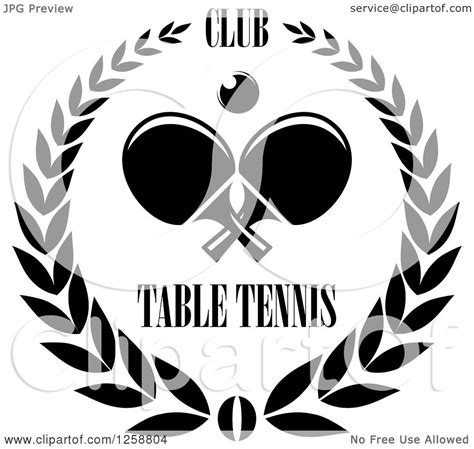 clipart of a black and white ping pong ball and