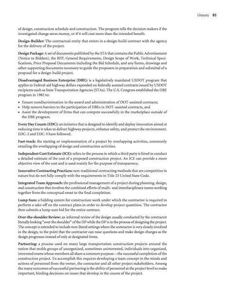 design management proposal glossary guide for design management on design build and