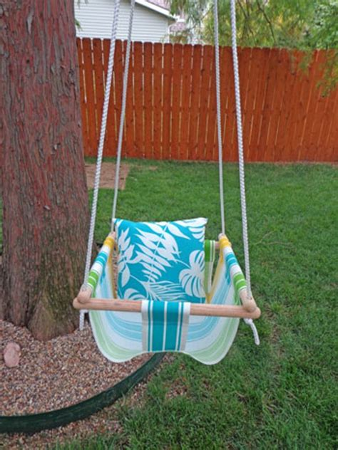 swinging a baby diy tree swing for a baby kidsomania