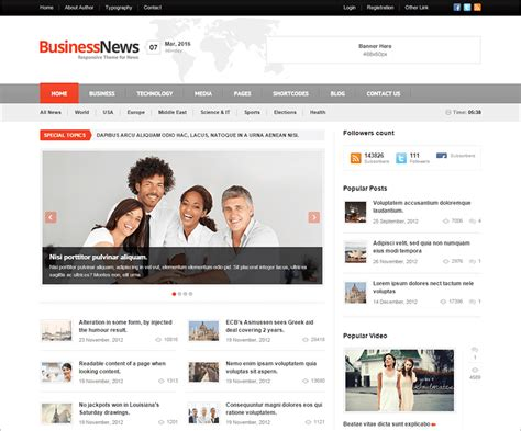 20 news website html5 templates free premium themes
