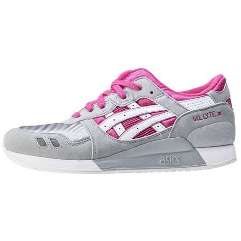 asics onitsuka tiger gel lyte iii gs trainers in grey pink
