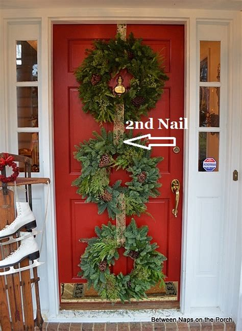 command strips christmas decorating frontdoor garland door ideas decorate with wreaths