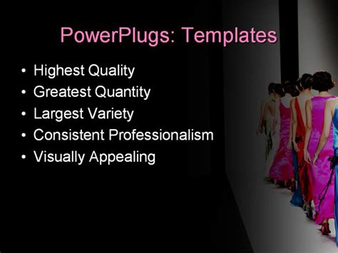 fashion powerpoint templates free best powerpoint template models on the catwalk during a