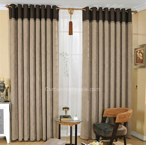 mens curtains casual gray polyester thick thermal blackout curtain for