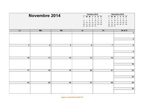 Calendrier 8 Novembre Calendrier Novembre 2014 224 Imprimer Gratuit En Pdf Et Excel