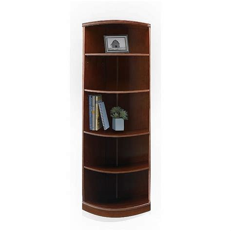 sorrento 5 shelf quarter bookcase