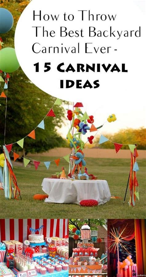 how to throw a backyard party how to throw the best backyard carnival ever 15 carnival