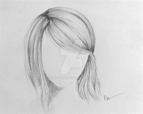 sketches of hair simple hair sketch video by nourshalabi on deviantart