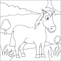 coloring horse coloring pictures