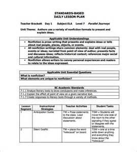 how to make a lesson plan template in word daily lesson plan template 12 free sle exle