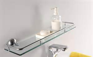 Lovely bathroom storage ideas with plain white wall and floating glass