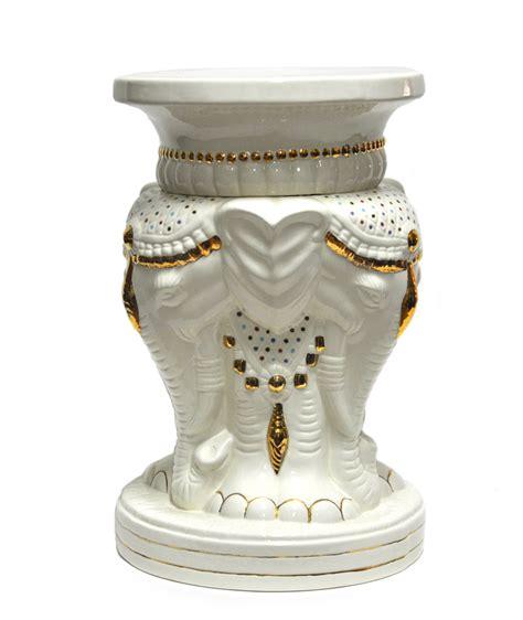 elephant garden stool white vintage white elephant garden stool mecox gardens