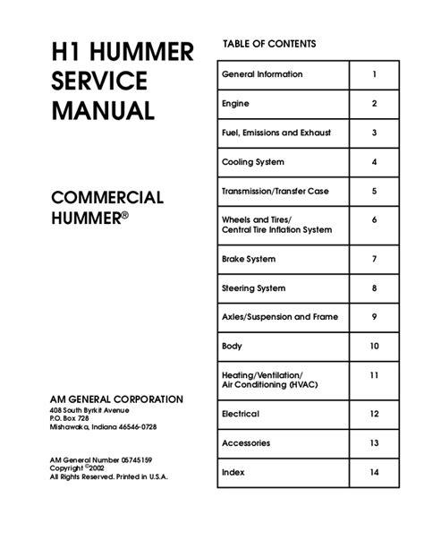 hummer h1 2000 service repair manual hummer h1 2000 service repair manual