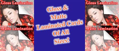 Which Is Better Glossy Or Matte Lamination - discount laminating for about 20c a sheet new york