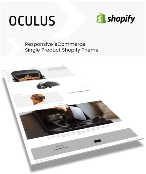 shopify themes for single product oculus responsive ecommerce single product shopify theme