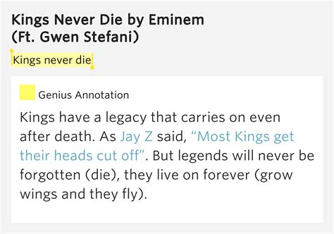 eminem kings never die lyrics kings never die kings never die lyrics meaning
