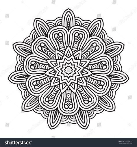 mandala tattoo vector ethnic fractal mandala vector circle meditation tattoo