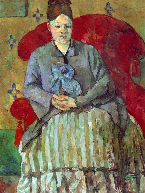 madame cezanne in a red armchair paul cezanne pinacoteca pinterest armchairs red