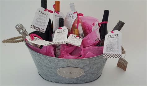 bridal shower gift ideas bridal shower gift diy to try a basket of firsts for the and groom