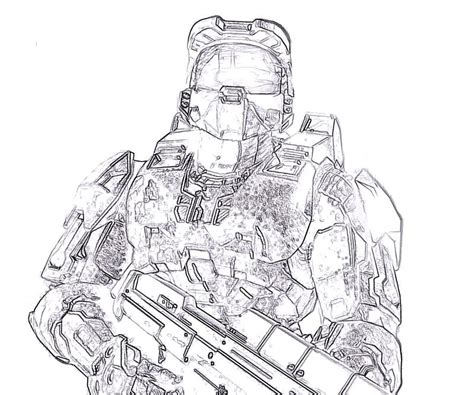 Halo 4 S Free Coloring Pages Master Chief Coloring Pages