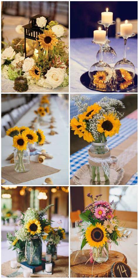 sunflower centerpieces for wedding best 25 sunflower wedding centerpieces ideas on