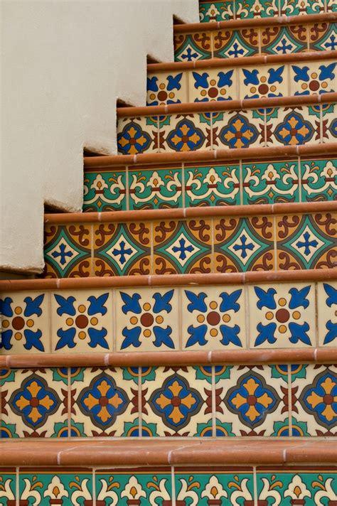 tile staircase mosaics tiles
