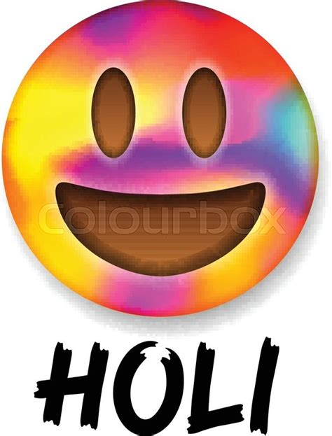 colorful emojis colorful smiley emoticon indian color festival holi