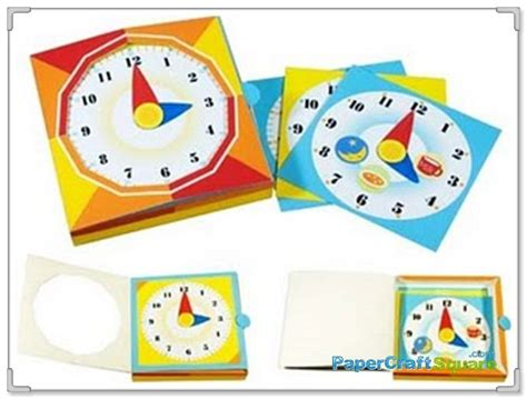 learn paper craft a simple clock papercraft