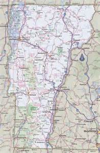 road map of state vermont road map