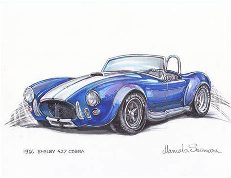 1966 Shelby Cobra Art course voiture Hot Rod cadeau pour petit