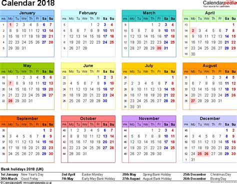 printable calendar 2018 with bank holidays 2018 calendar uk 2018 calendar with holidays