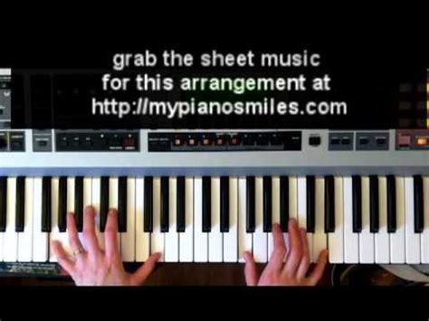 tutorial piano lean on how to play lean on me easy piano sheet music youtube