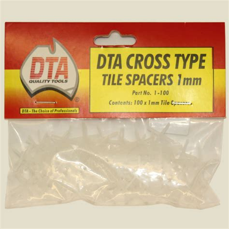 DTA Cross Type Tile Spacers 1mm 100 Pieces   Belle Tiles