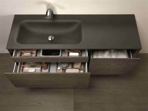 Lu Wall L wall mounted vanity unit with drawers lu 26 by mobiltesino