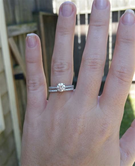 Wedding Bands To Pair With Solitaire by What Wedding Band Did You Pair With Your Thin Pave