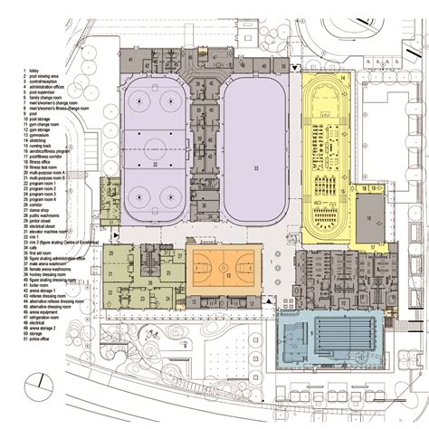 Gallery Floor Plans by Gallery Of Cassie Campbell Community Centre Perkins Will