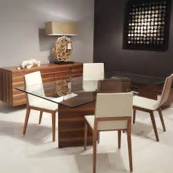 modern glass top dining table wood and designs transitional round amp chairs furniture set