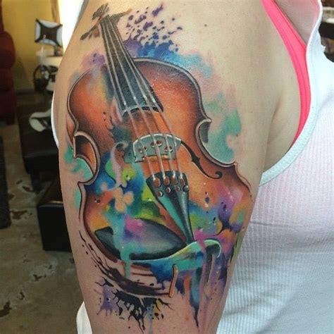 tattooed heart violin 16 enchanting violin tattoos tattoodo