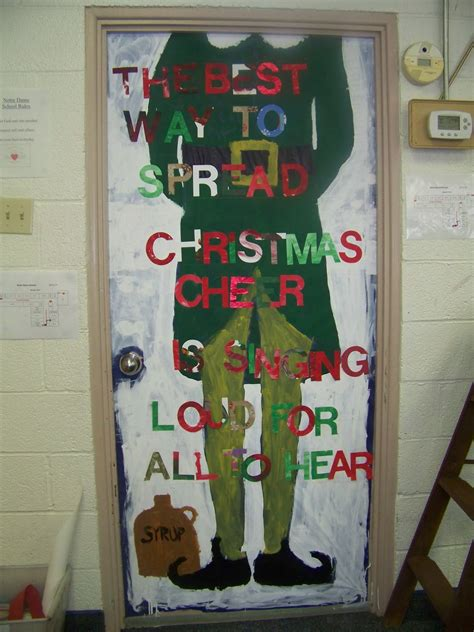 decorated doors for christmas contest the notre dame school talent show 2013 door decorating contest