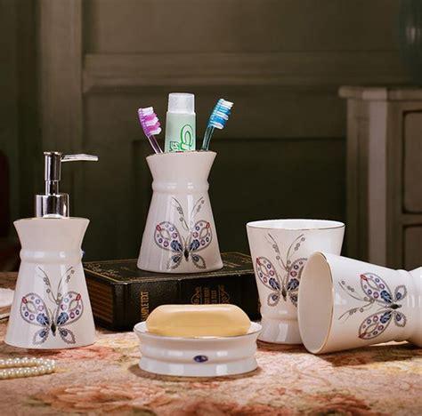 chinese bathroom sets new bone china ceramic bathroom set five pieces bathroom
