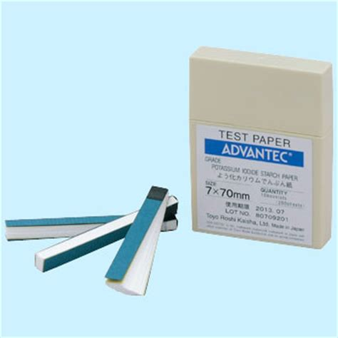 Starch Paper - iodide potassium starch paper advantec litmus paper ph