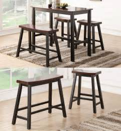 Bar Stool Benches Espresso Wooden Rectangular Counter Height Dining Kitchen